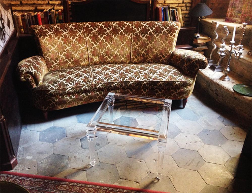 Tavolini Da Salotto Plexiglass.Coffee Table In Plexiglass Luigi Xvi Square Cast Acrylic