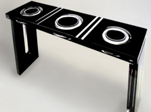 Plexiglass console 'Ring' Poliedrica