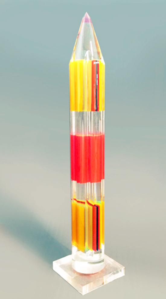 Acrylic Sculpture 'Pencil multicolor'