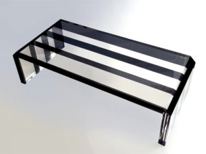 Lucite coffee table Poliedrica