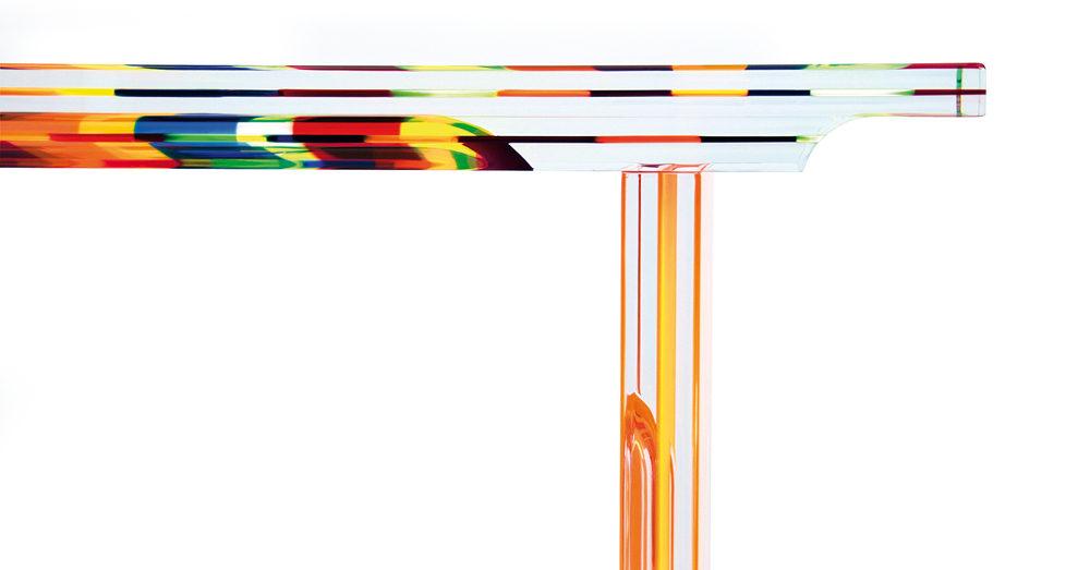 Plexiglas console 'Multicolore' Poliedrica