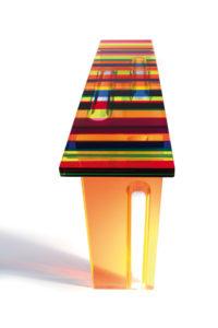 Plerspex console 'Multicolore' Poliedrica