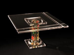 Coffe table in plexiglas by Poliedrica