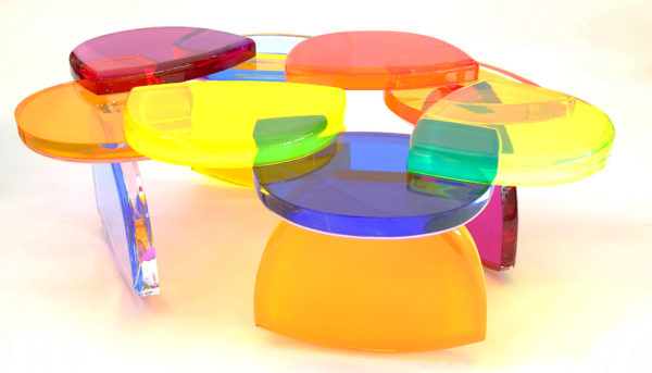 cast acrylic Coffee table BonBon by M. Pettinari
