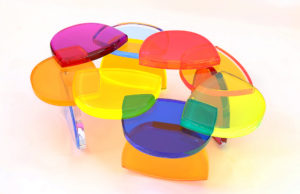 Plexiglas Coffee table BonBon by M. Pettinari