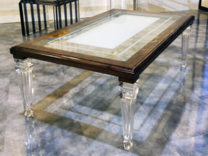 acrylic and wood Coffee table Old Luigi