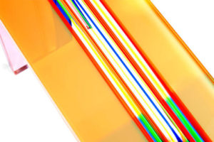 Console in plexiglass 'Millerighe' Poliedrica