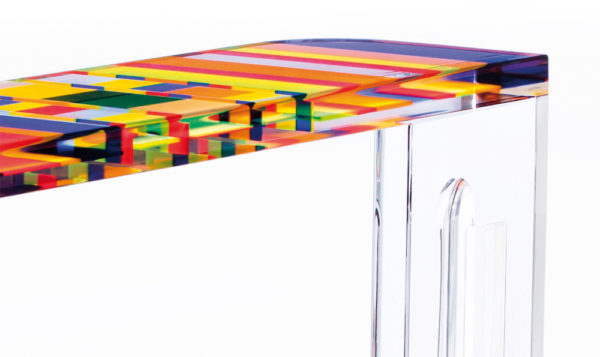 Console in plexiglass 'Stumble' Poliedrica
