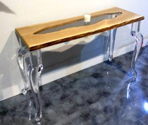 console in plexiglass e legno Laguna by Poliedrica