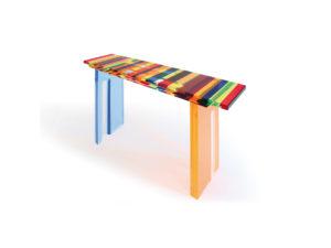 Acrylic console 'Multicolore' Poliedrica