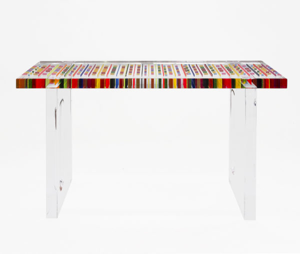 Lucite console table Missoni by Poliedrica