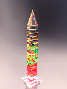 Lucite sculpture 'Skyscraper'