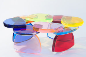 Plexiglass Coffee table BonBon by M. Pettinari