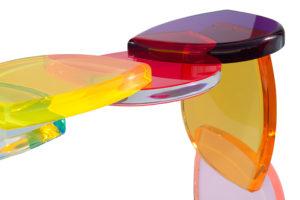 Plexiglass console BonBon by Marco Pettinari