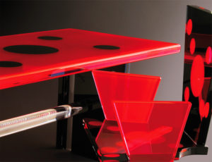 Lucite desk 'ladybug' by Poliedrica