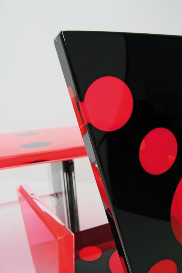 Acrylic desk 'ladybug' by Poliedrica
