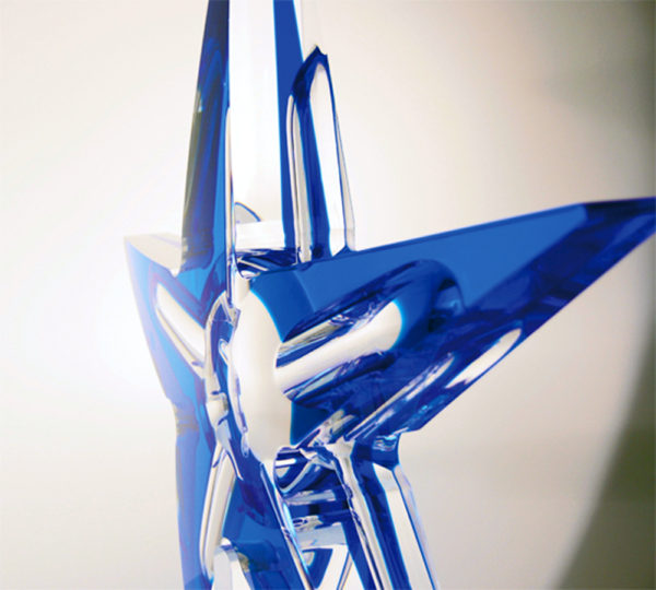 acrylic Sculpture 'Isteddu' side view