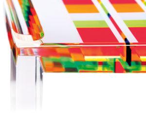 Tavolo da salotto in acrilico Poliedrica