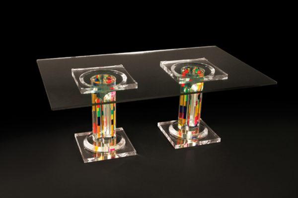 Tavolo da caffé in plexiglass Poliedrica