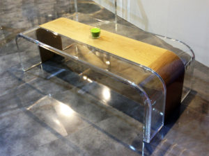 coffee table lucite wood Tiblisi