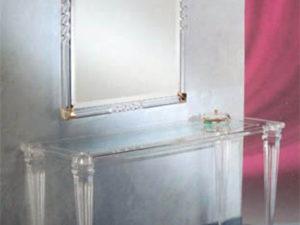 Console in acrylic 'Luigi XVI' by Poliedrica