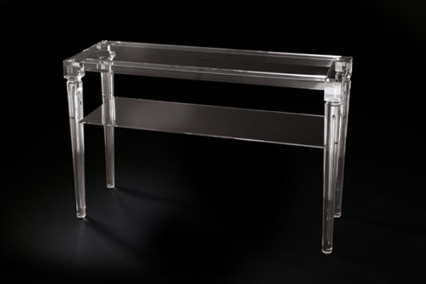 two-shelf acrylic console table Poliedrica