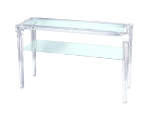 two-shelf acrylic console table Poliedrica