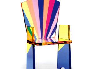 Plexiglas armchair Tronetto by Poliedrica