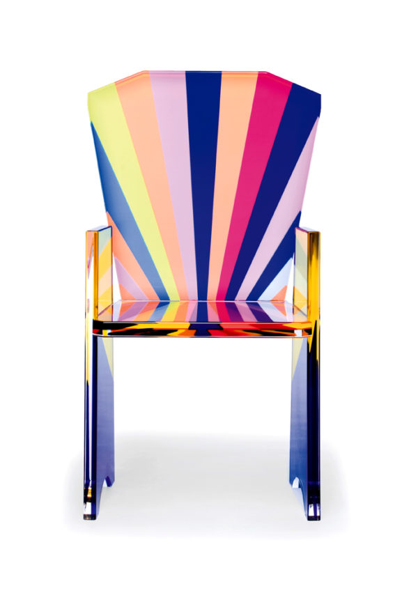 acrylic armchair Tronetto by Poliedrica